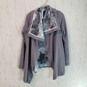 Lululemon Savasana Wrap Sweater Coat Size 10 Gray